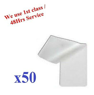 50pcs ID Laminating Pouches Ideal for ID and Many More Others 60 x 95mm approx