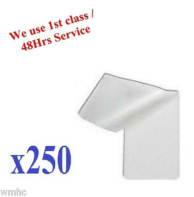 250pcs ID Laminating Pouches Ideal for ID and Many More Others 60 x 95mm approx