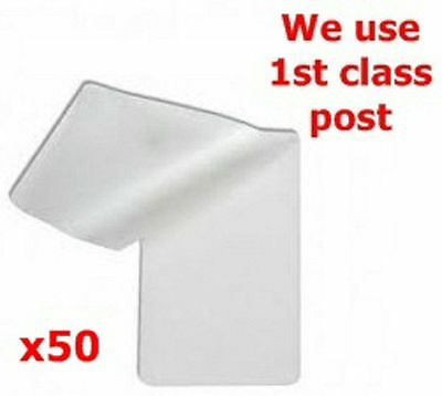 50pcs ID Laminating Pouches Ideal for ID and many other 60 x 95mm approx