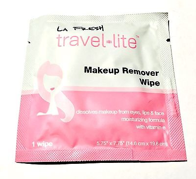 10 piece LA Fresh Makeup Remover Wipe Sachet travel size individually wrapped