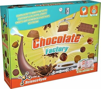 Chocolate Factory 33 Experiments Age 8+ Science4You Free Uk Post! Brand New!