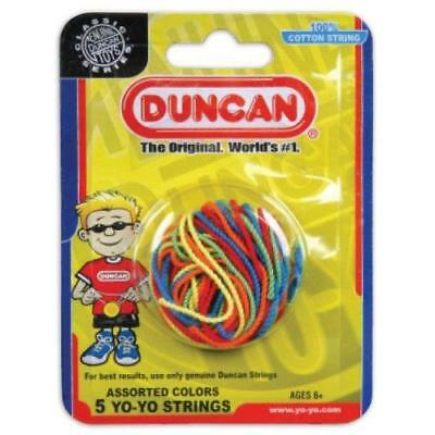 Duncan assorted colours replacement spare yoyo strings. High grade 100% cotton.