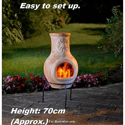 New 70cm Sunshine Clay Chimenea Outdoor Decoration Garden Heating