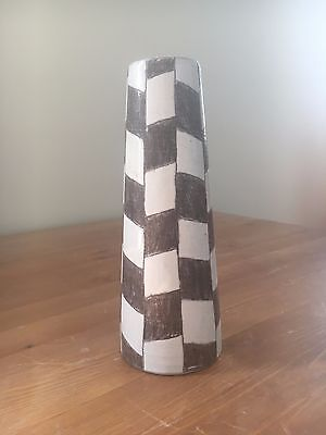 MCM Danish Modern Art Pottery Vase (Sweden, Artist Signed)