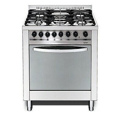 GAS stove - steel lucid. in mirror 5 burners gas oven gas M76GV/C LOFRA