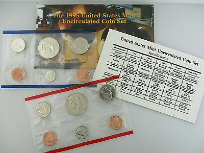 1995 United States Us Mint Uncirculated Coin P & D Mint Set