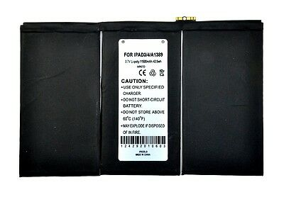 Replacement Internal Battery for iPad 3 3rd 4 4th Generation 11560mAh