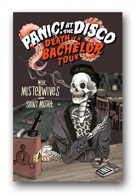 Panic at The Disco Poster - 2017 Death Of a Bachelor Tour Admat