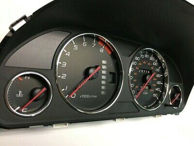 HONDA PRELUDE 97-01 Chrome Cluster gauge Dashboard rings speedo Trim instrument