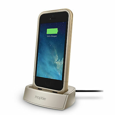 mophie Juice Pack Charging Dock for iPhone 5, 5s and SE - Gold