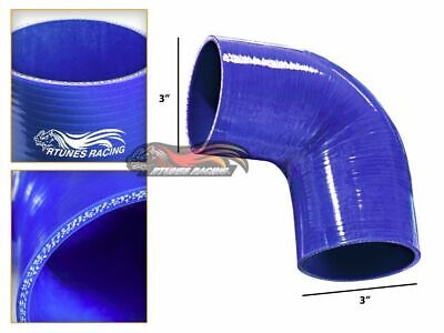 """BLACK3.5/"""" 89mm 3-ply Silicone Coupler Hose Turbo Intake Intercooler For Infiniti"""