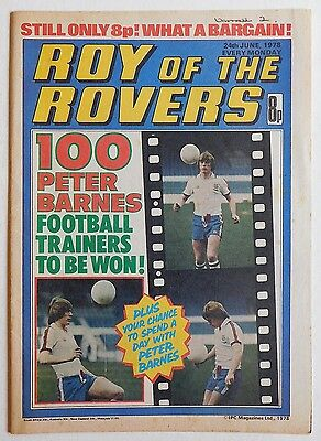 ROY OF THE ROVERS Comic - 24th June 1978