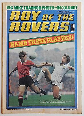 ROY OF THE ROVERS Comic - 31st December 1977