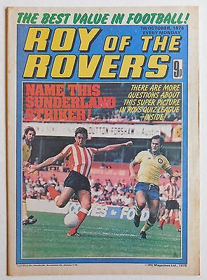 ROY OF THE ROVERS Comic - 7th October 1978