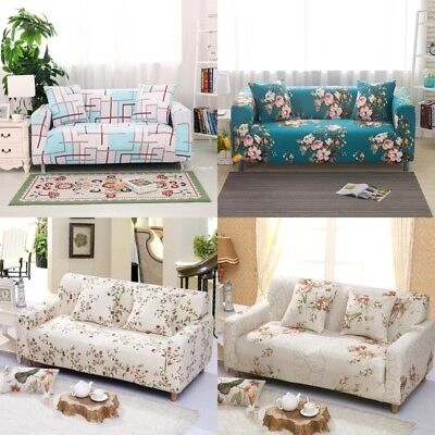 Flower Stretch Chair Cover Sofa Covers 1 2 3 4 Seater Couch Cover
