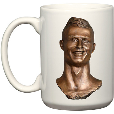 Cristiano Ronaldo International Airport Statue Parody Madeira Airport Coffee Mug