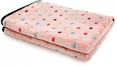 PAWZ Road Pet Dog Blanket Fleece Fabric Soft And Cute Pink L