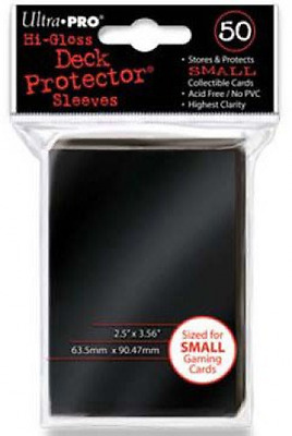 Ultra Pro SLEEVES 60 d10 Card Game (Small, Black)