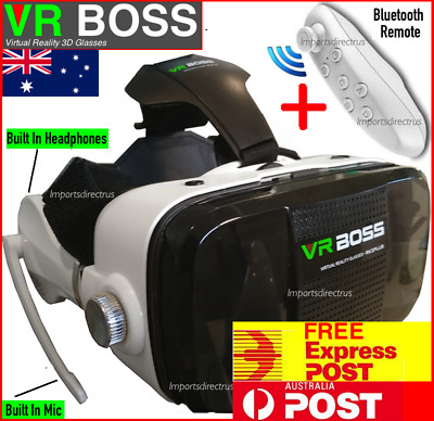 3D VR Headset with Controller Virtual Reality Glasses for iPhone 5 6 7 Samsung