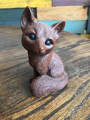 "Red Mill MFG Handcrafted Brown Fox Figurine 5-1/4"" Made of Resin"