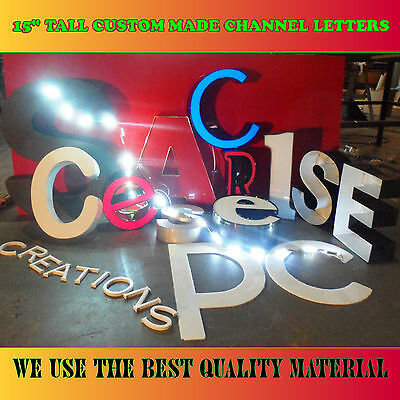 Led Iluminated Custom Channel Letters Sign For Store, Business