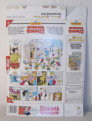 Ralston Morning Funnies Original Cereal Box With Marvin, Family Circle & Dennis