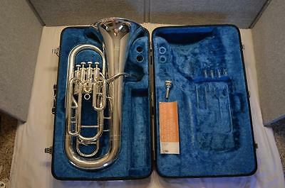 Yamaha Yep-321 Series 4-Valve Euphonium Silver - Excellent Playing Condition
