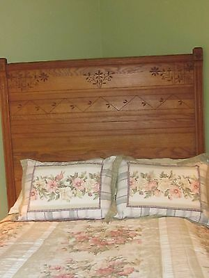 Antique 1880 5- piece  Eastlake bedroom suite Solid Oak
