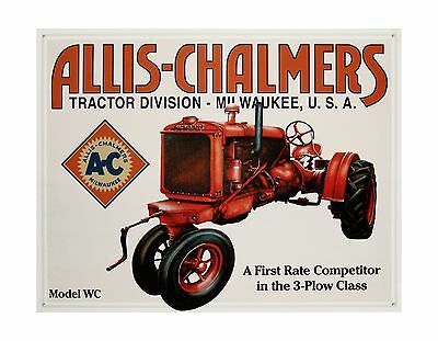 """METAL SIGN 16"""" x 12.5"""" Allis-Chalmers: Model WC Tractor TIN SIGN"""