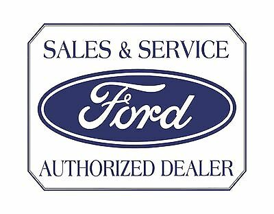 """TIN SIGN 16"""" x 13"""" Ford: Sales & Service Authorized Dealer Garage METAL SIGN"""