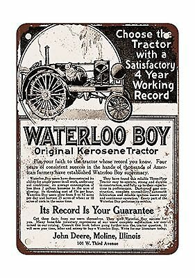 1918 John Deere Waterloo Boy Tractor Vintage Look Reproduction Metal Tin Sign...
