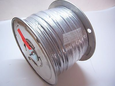 "Galvanized Wire Rope Cable, 1/8"", 7x7, 1000 ft reel"