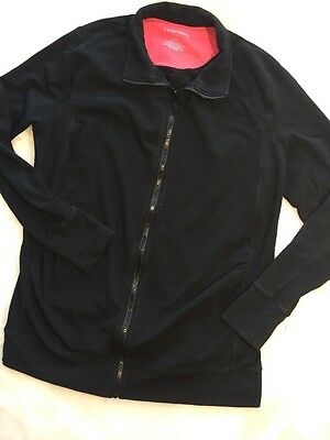 Liz Lange Maternity Black Zip Up Jacket Plus Size XXL Yoga Sweats