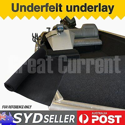 2m x 3m Black Carpet For Boat Marine Board Deck Underfelt Replacement Universal