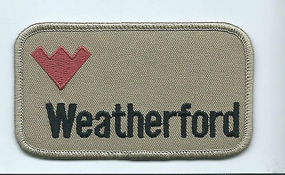 Weatherford oilfield company patch 2-1/4 X 4 #1604