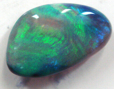 C20 Loose Stone Australian Natural Solid Black Opal Stone For Pendant & Ring