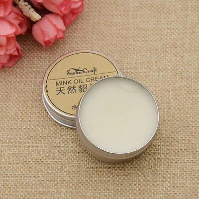 30g DIY Leather Craft Mink Oil Cream For Leather Bag Shoes Maintenance Preserve