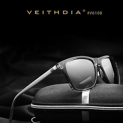 Veithdia Luxury Mens Polarized UV400 Sunglasses Sports Driving Glasses Eyewear