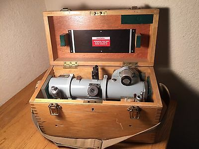 Barr And Stroud Dendrometer -  Antique Wood Forestry Tree Measurement