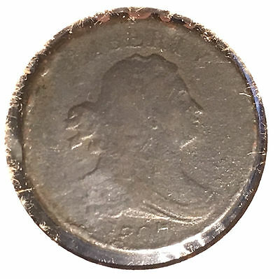 1807 1/2C Draped Bust Half Cent [Auto. Combined Shipping](25120)