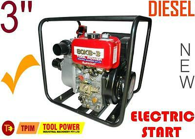 Water Pump TOOL POWER electric start 3'' Diesel + free battery = BRAND NEW++++++