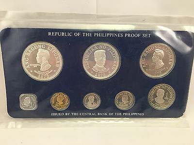 1975 Republic of the Philippines Proof 8 coin set Silver