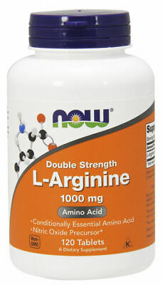 Now Foods L-Arginine DOUBLE STRENTH 1000 mg 120 Tabs Nitric Oxide No 2