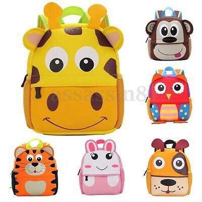 AU Children Cartoon Animal Backpack Toddler Kids School Bag Kindergarte Boy Girl