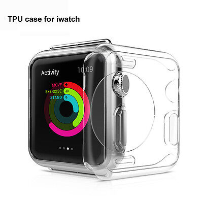 Ultra Thin Clear TPU Soft Case Cover For Apple Watch 1 2 3 4 38mm 42mm 40mm 44mm