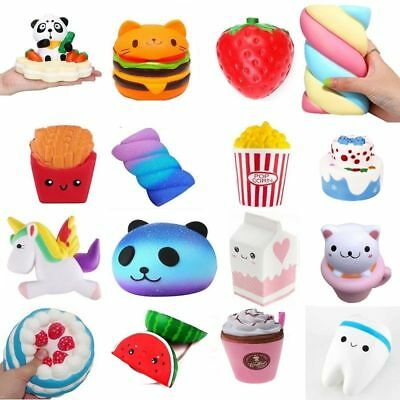 Lot Jumbo Squishy Fruit Breads Toast Slow Rising Bread Cellphone Strap Charm Toy