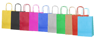 Luxury Party Bags - Kraft Paper Gift Bag Twisted Handles -Recyclable Loot Bag SM