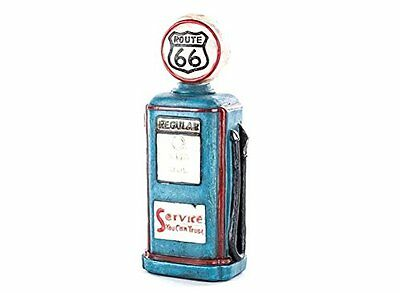 Authentic Route 66 Resin Gas Pump W/Led Globe Light - Vintage Style Father's Day