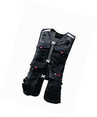 Bosch WHV 09 Professional Tool Vest Black, safety euqipment, workware