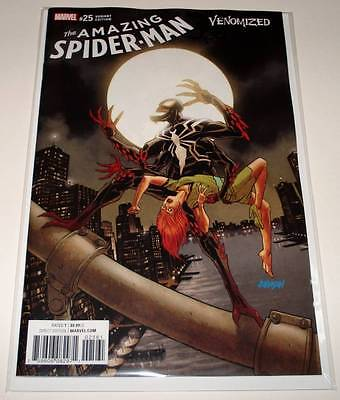The AMAZING SPIDER-MAN # 25 Marvel Comic  May 2017 NM  VENOMIZED VARIANT EDITION